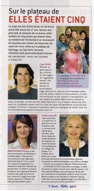Brigitte Paquette Elles Etaient Cinq ©7JoursMars2004