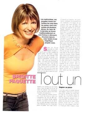 Brigitte Paquette Les Poupees Russes ©FemmePlusJuin2005page2