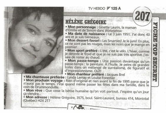 Helene Gregoire ©TvHebdo