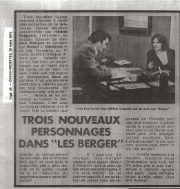 Helene Gregoire LesBerger©EchoVedettesMars1976
