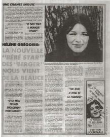 Helene Gregoire LesBerger©JournaldesVedettes8mai1976
