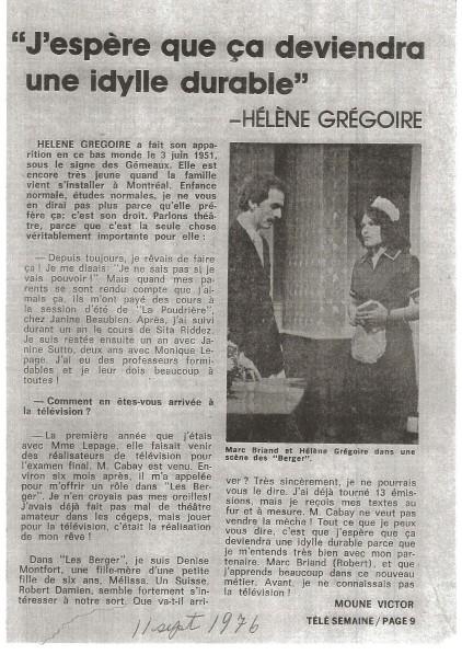 Helene Gregoire LesBerger©TeleSemaine11septembre1976