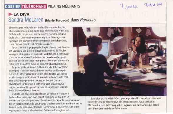 Marie Turgeon Rumeurs©7JoursMai2004