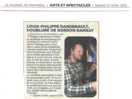 Louis Philippe Dandenault MasterChef© JournalDeMontreal2013