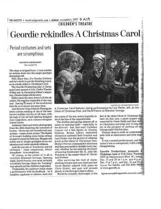 Michel Perron A Christmas Carol ©TheGazette2009