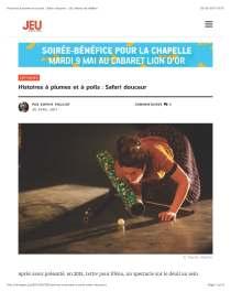 Emmanuelle Laroche Histoires à plumes et à poils JEU Revue de théâtre Page 1