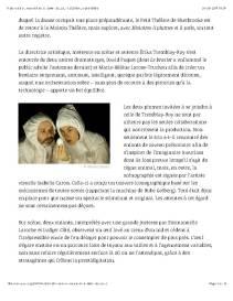 Emmanuelle Laroche Histoires à plumes et à poils JEU Revue de théâtre Page 2